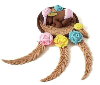 Fondant Dream Catcher Cake Topper for Baby Shower