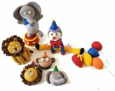 Circus Animal Fondant Cake Toppers
