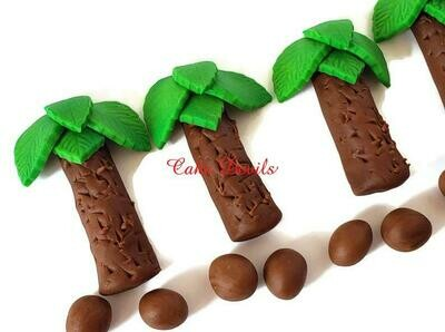 Fondant Palm Trees Cake Toppers