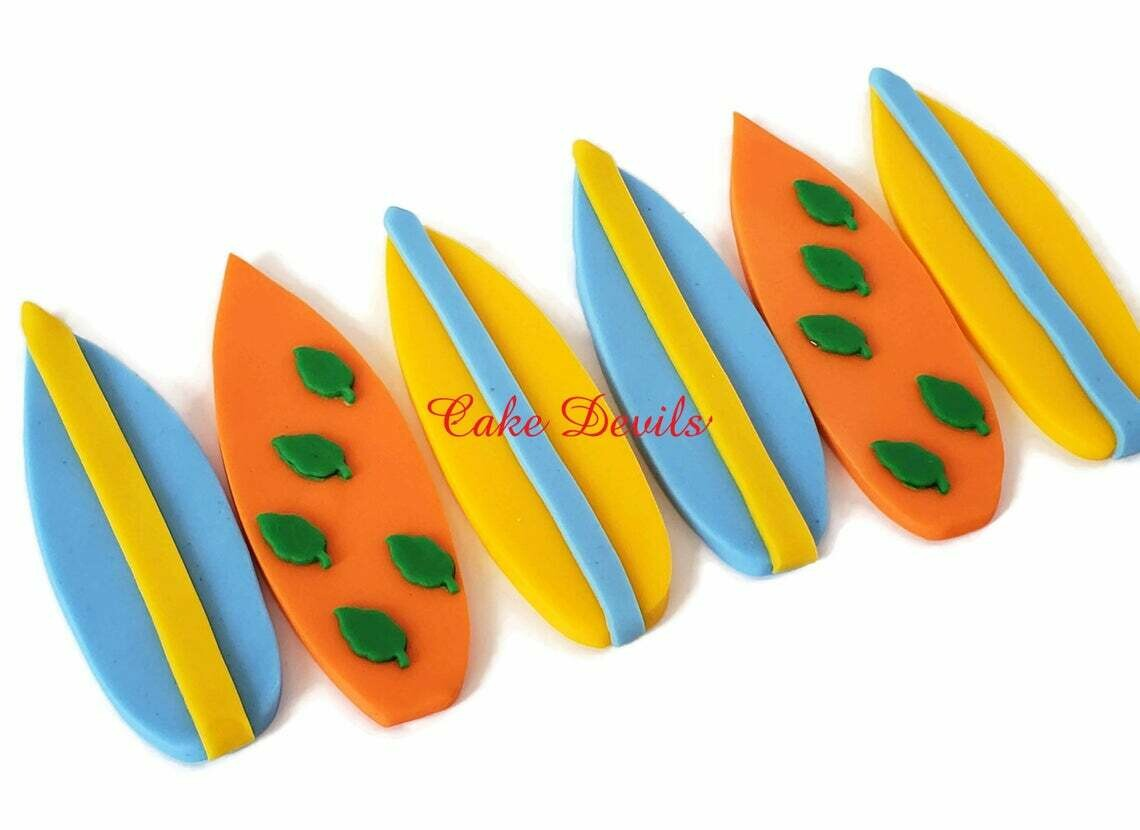 Fondant Surfboard Cake Toppers