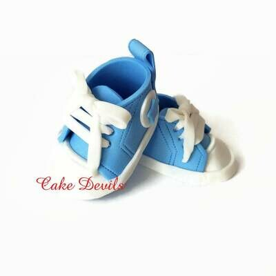 Fondant Baby Sneakers Cake Toppers for Baby Shower