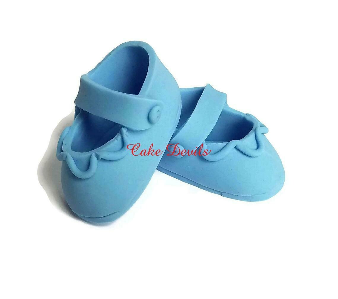 Fondant Baby shoes, Baby Shower, Baby Booties Cake Decorations