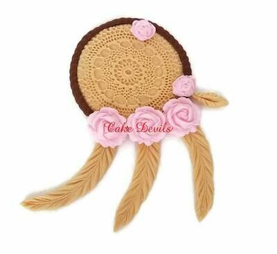 Fondant Dream Catcher Cake Topper, SMALL