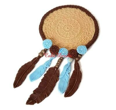 Tribal Fondant Dream Catcher Cake Topper, LARGE