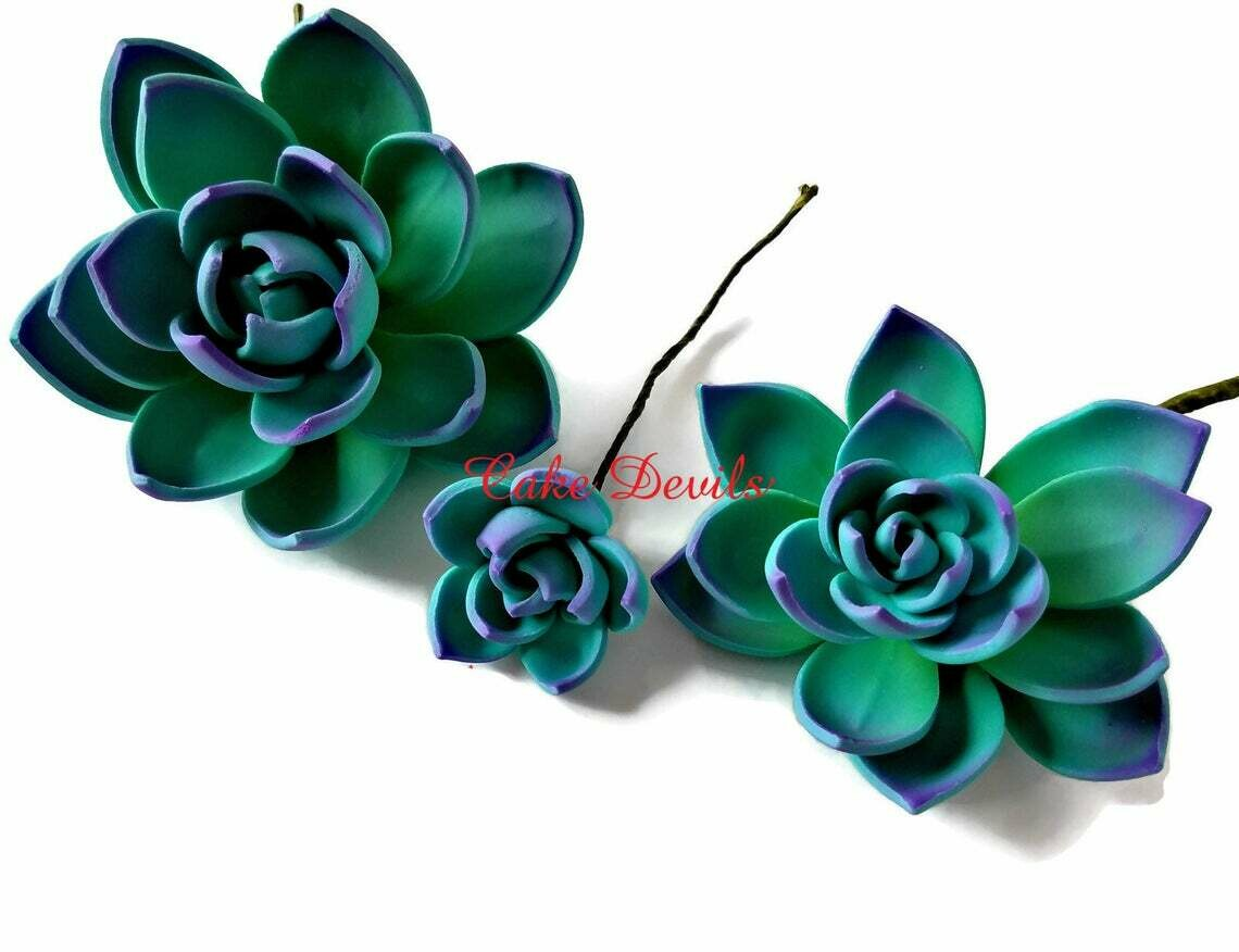 Succulent Cake Topper Flowers