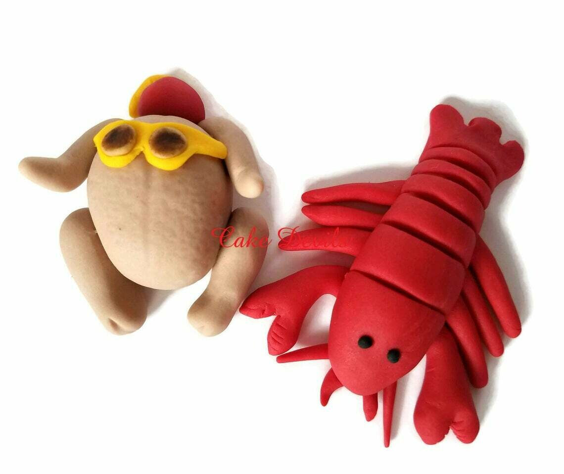 Fondant Friends Lobster and Turkey Cake Toppers