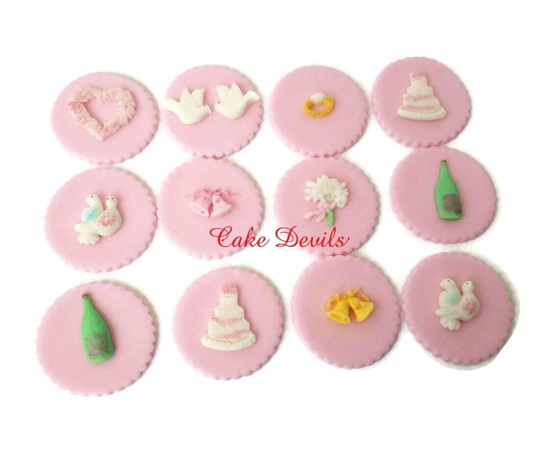 Bridal Shower Cupcake Toppers