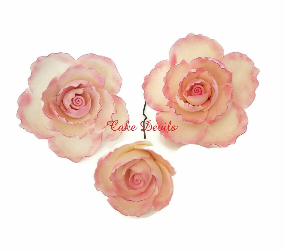 Large Fondant Rose Cake Toppers