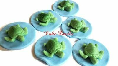 3D Fondant Turtle Cupcake Toppers