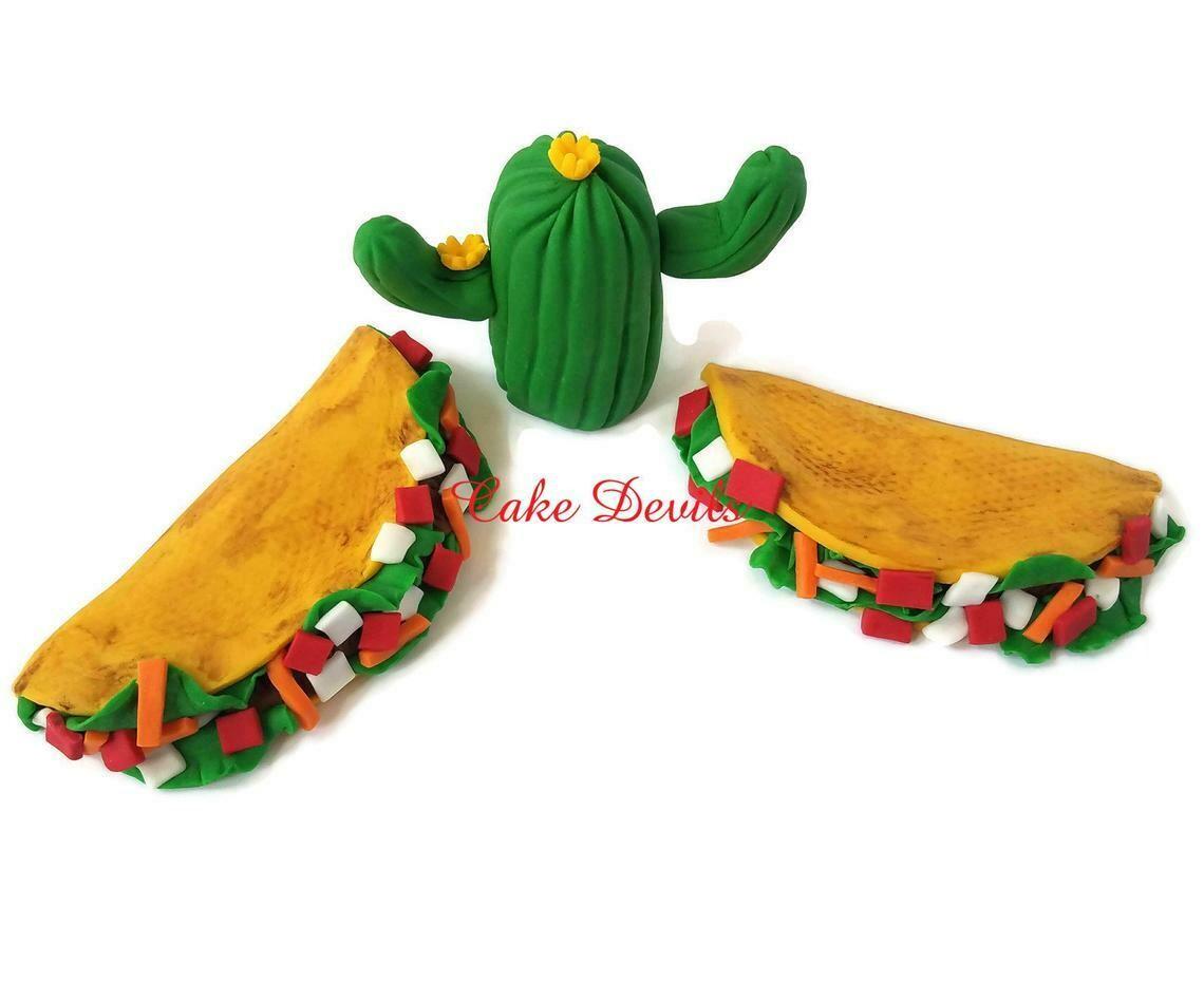 Taco Cake Topper for Fiesta themed Birthday Cake