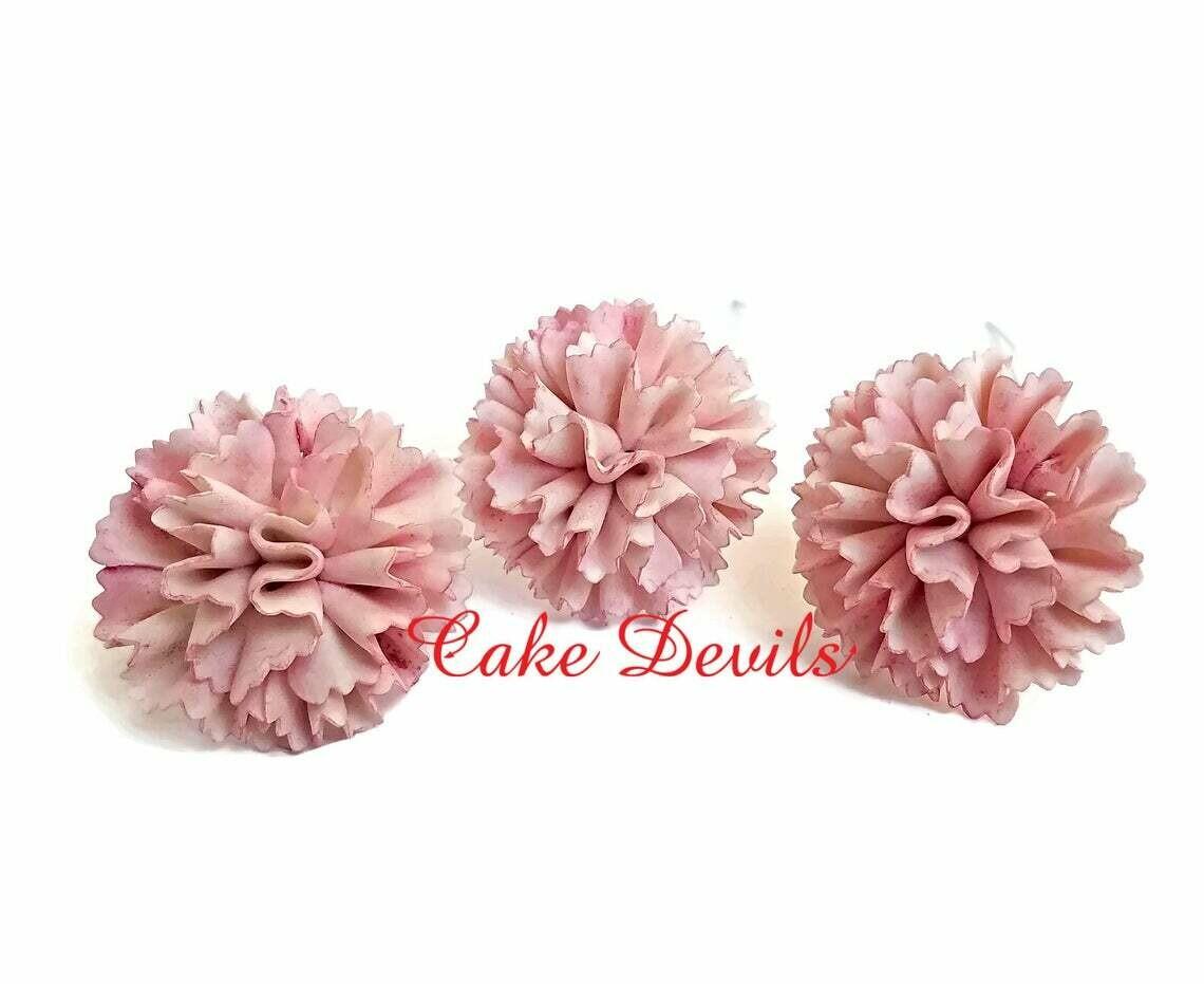 Fondant Carnation Cake Toppers