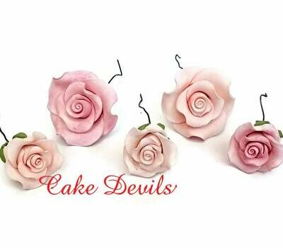 Fondant Roses Cake Toppers