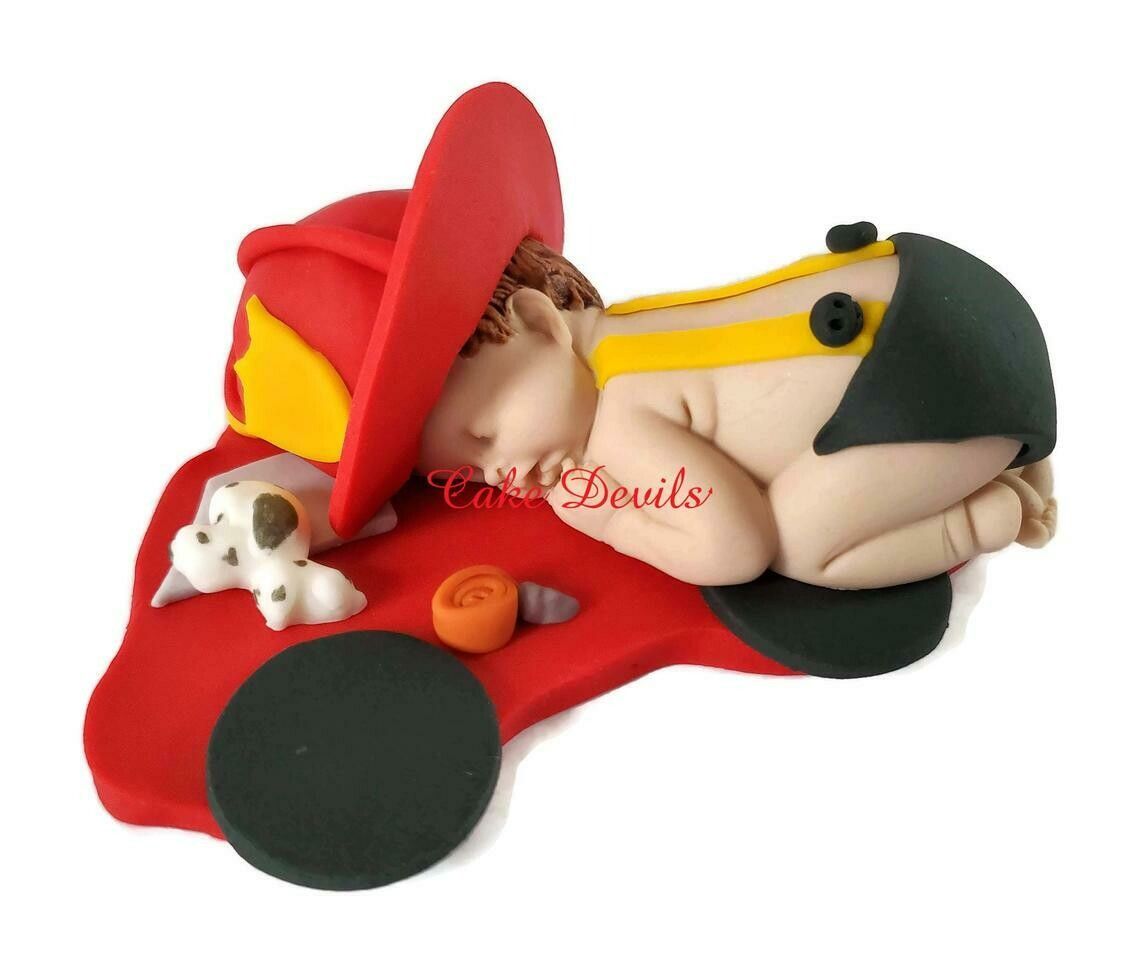 Firefighter Baby Shower Cake Topper