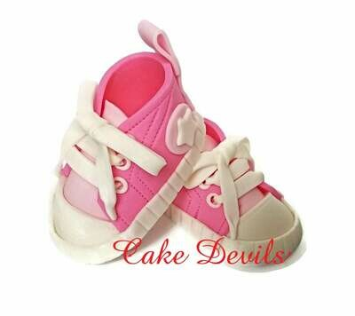 Baby Shower Sneakers with Grommets Cake Topper