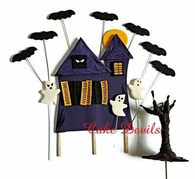 Halloween Haunted House Fondant Cake Topper Kit