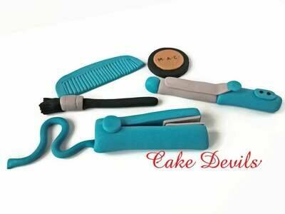 Hairdresser Cake Decorations, Makeup Cake, Beauty Salon Fondant Cake Toppers