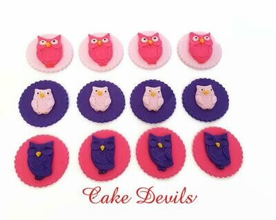 Fondant Owl Cupcake Toppers