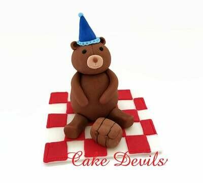 Fondant Teddy Bear Picnic Cake Topper