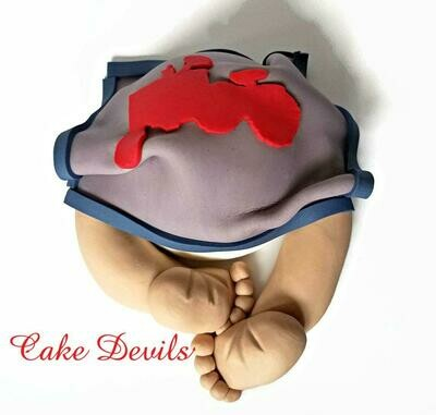 Tractor Baby Butt Cake Topper great for a Farm themed Baby Shower