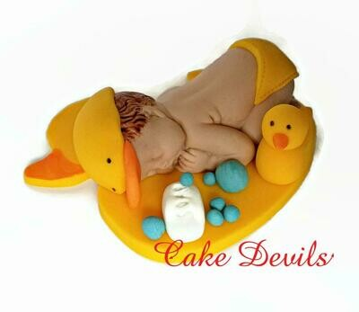 Duck Baby Shower Fondant Cake Topper