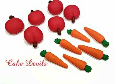 Apple and Carrot Cupcake Toppers