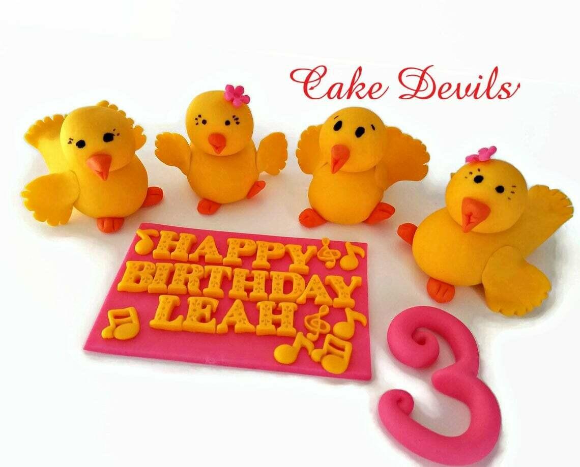 Fondant Ducks, Dancing Duck Cake Toppers