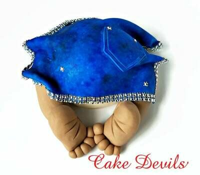 Denim and Diamonds Baby Shower Baby Butt Fondant Cake Topper