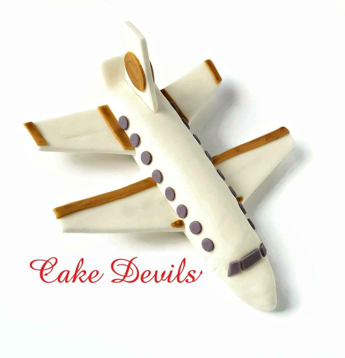 Jet Plane Fondant Cake Topper, Airplane Cake Decorations