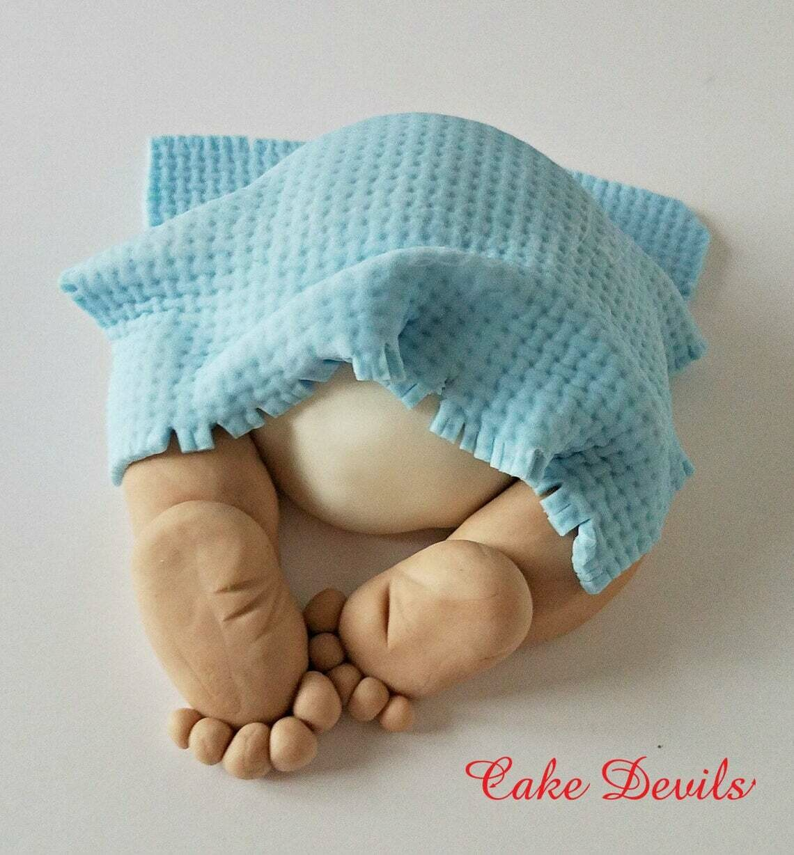 Mini Baby Butt Baby Shower Cake Topper - Perfect for a smaller baby shower Cake!