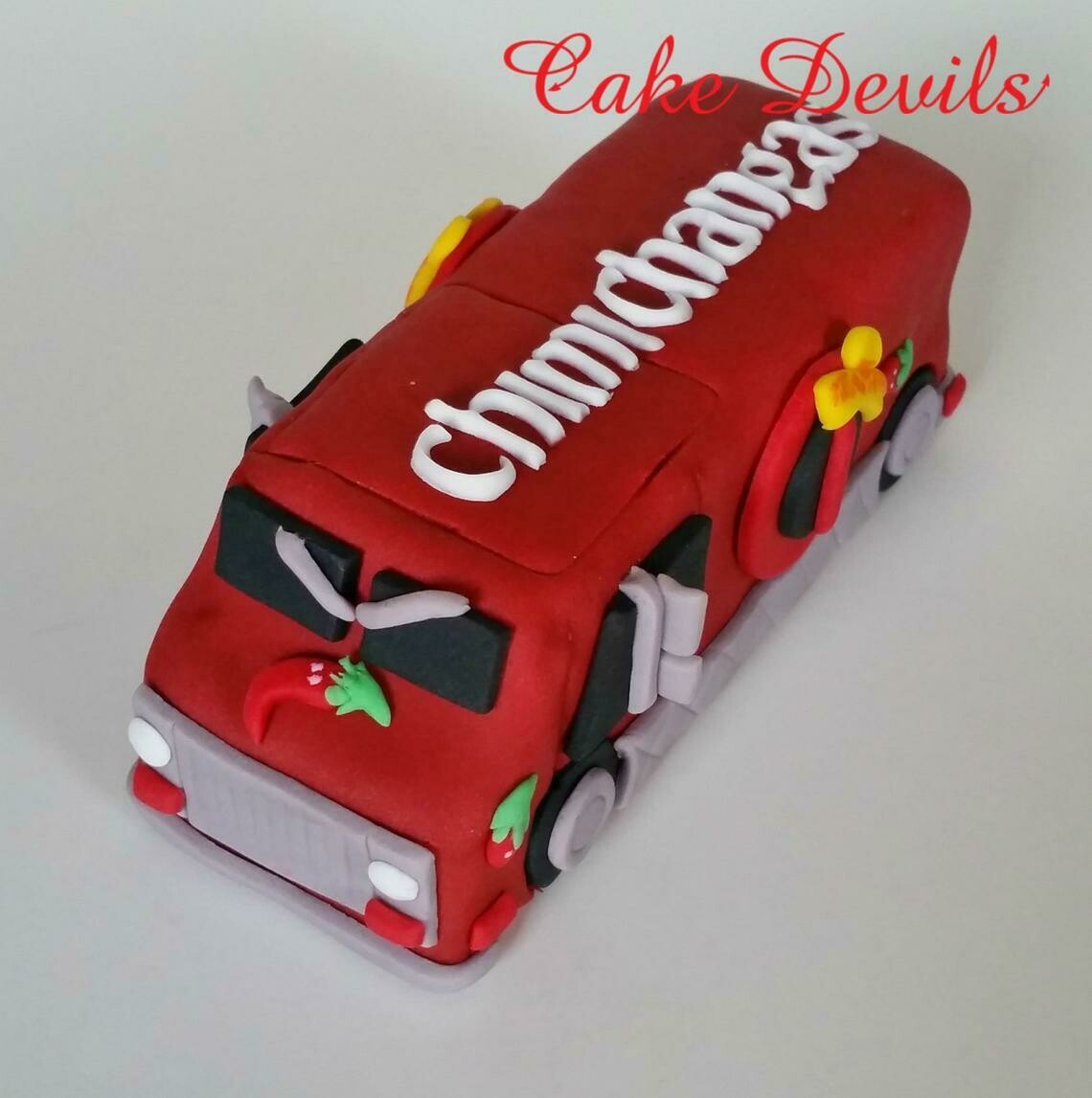 Dead Pool Food Truck Cake Topper, Fondant, Chimichangas
