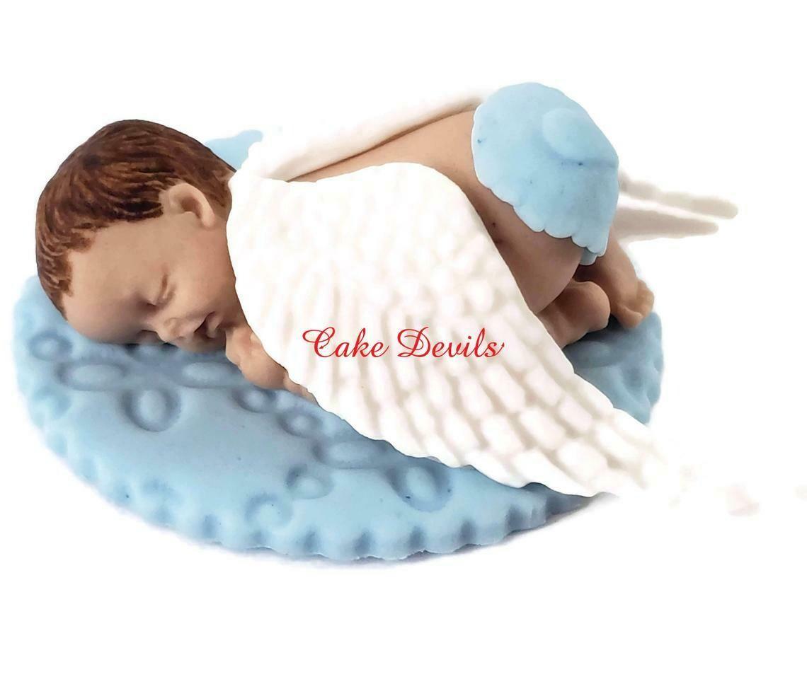 Angel Sleeping Baby Fondant Cake Topper for Angel Baby Shower