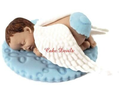 Angel Sleeping Baby Fondant Cake Topper for Angel Baby Shower