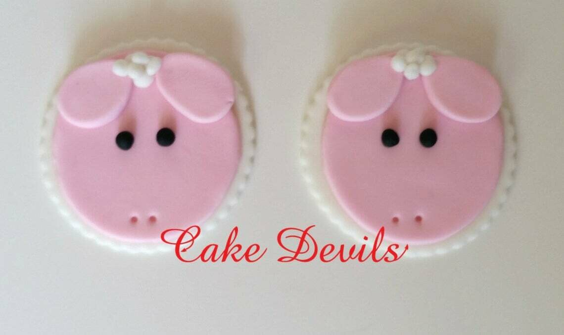 Fondant Lamb / Sheep Cupcake Toppers, Handmade Edible Sheep, Lamb Cupcake Decorations