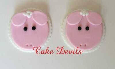 Fondant Lamb / Sheep Cupcake Toppers, Handmade Edible Sheep, Lamb Cupcake Decorations