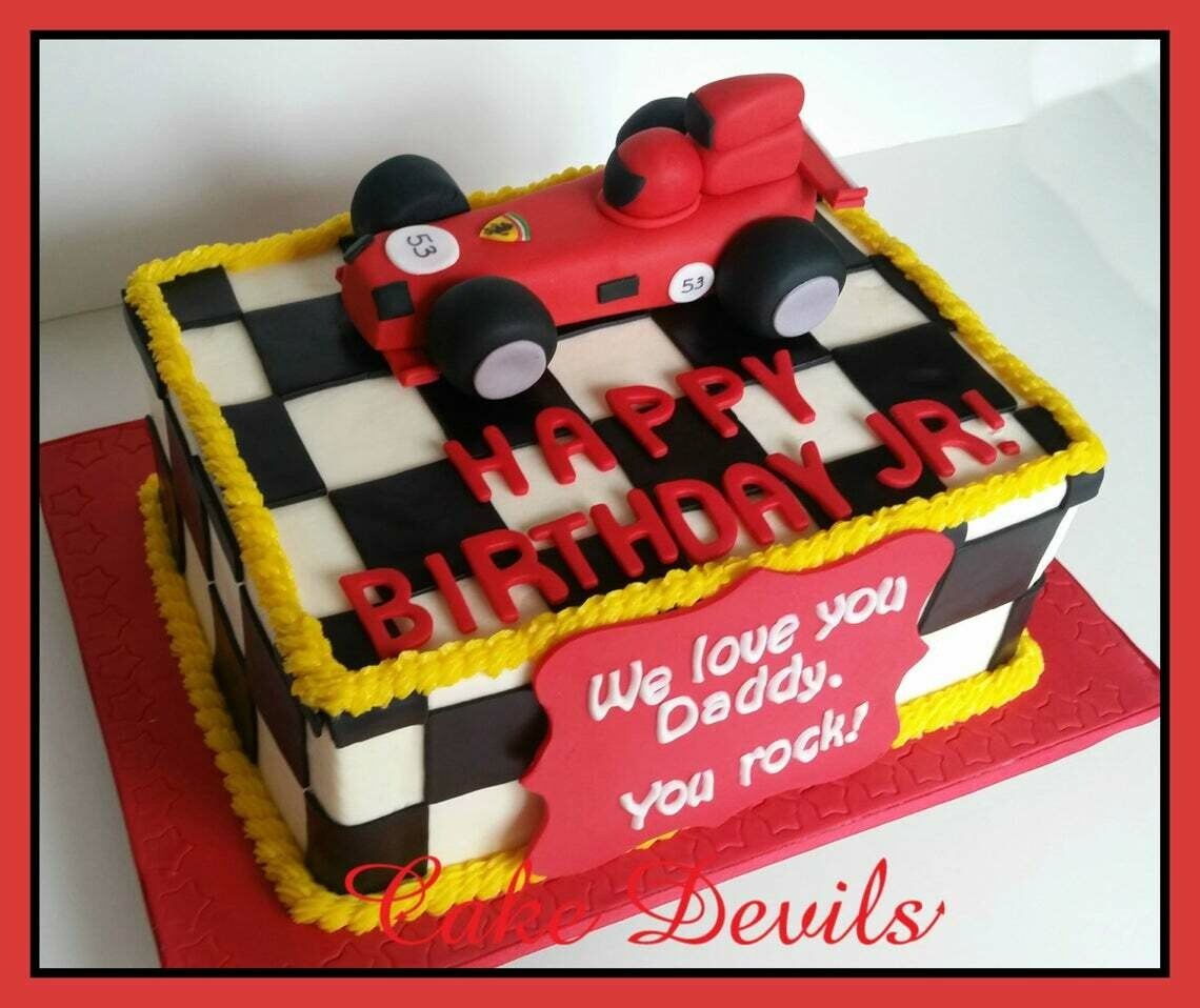 Race Car Fondant Cake Topper, Handmade Edible Sports Car Cake Topper