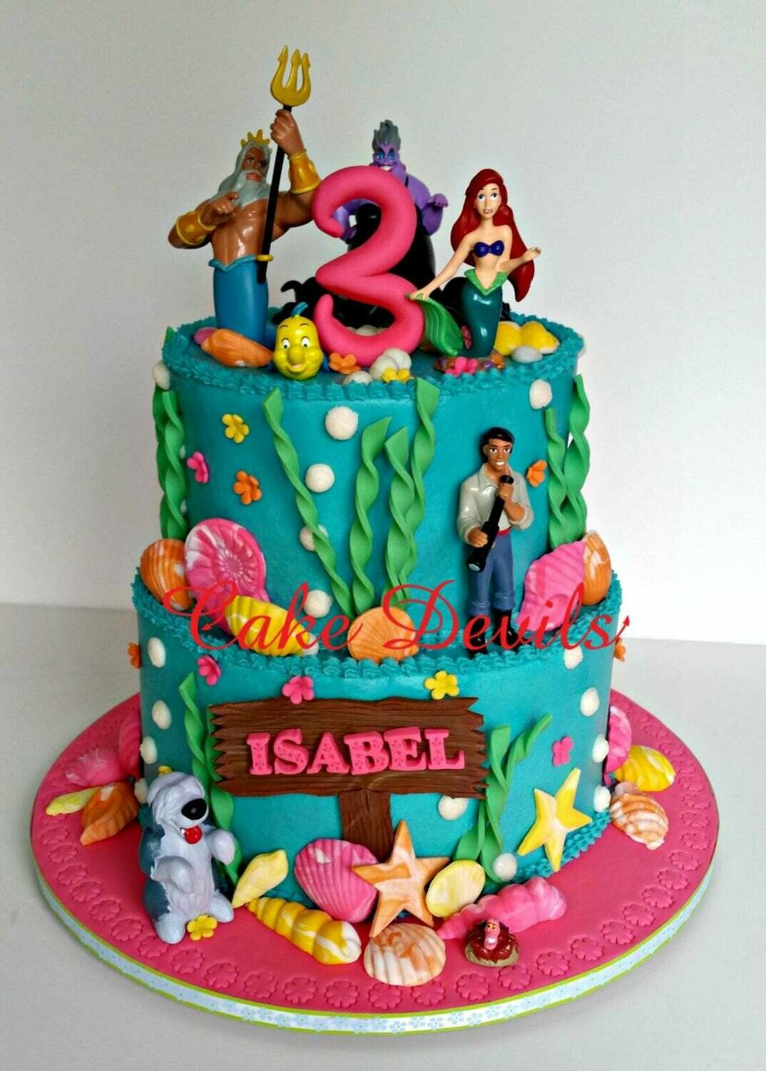 Under the Sea Ocean Life Fondant Cake Toppers, Mermaid Fondant Cake Decorations
