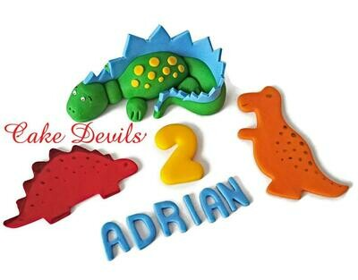 Dinosaur Cake Toppers, Fondant Birthday Cake Decorations