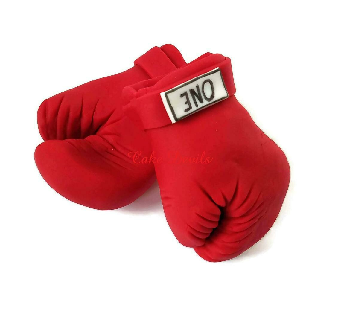 Boxing Gloves Cake Topper, Fondant Boxing Gloves Cake Decorations