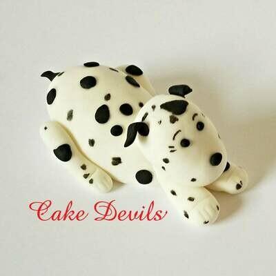 Fondant Dalmatian Dog Cake Topper, Dalmatian Cake Decorations, Dog Cake topper, Handmade Edible