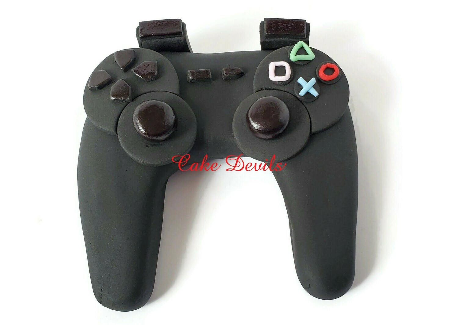 Video Game Controller Fondant Cake Topper, Play Station or Xbox Gaming Birthday Cake Decorations
