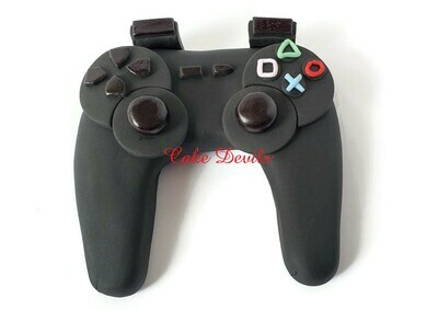 Video Game Controller Fondant Cake Topper, Play Station Gaming Birthday Cake Decorations
