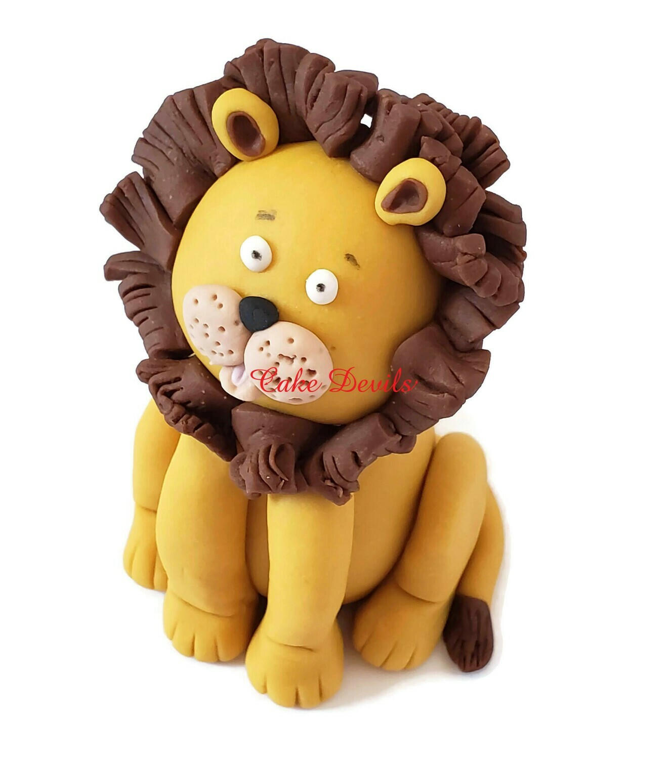 Fondant Lion, Lion Cake Topper, Birthday Party Cake, Lion Cake Decorations , handmade edible, Lion Birthday Party Supplies
