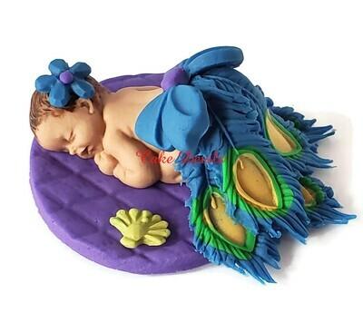 Peacock Baby Shower Cake Topper