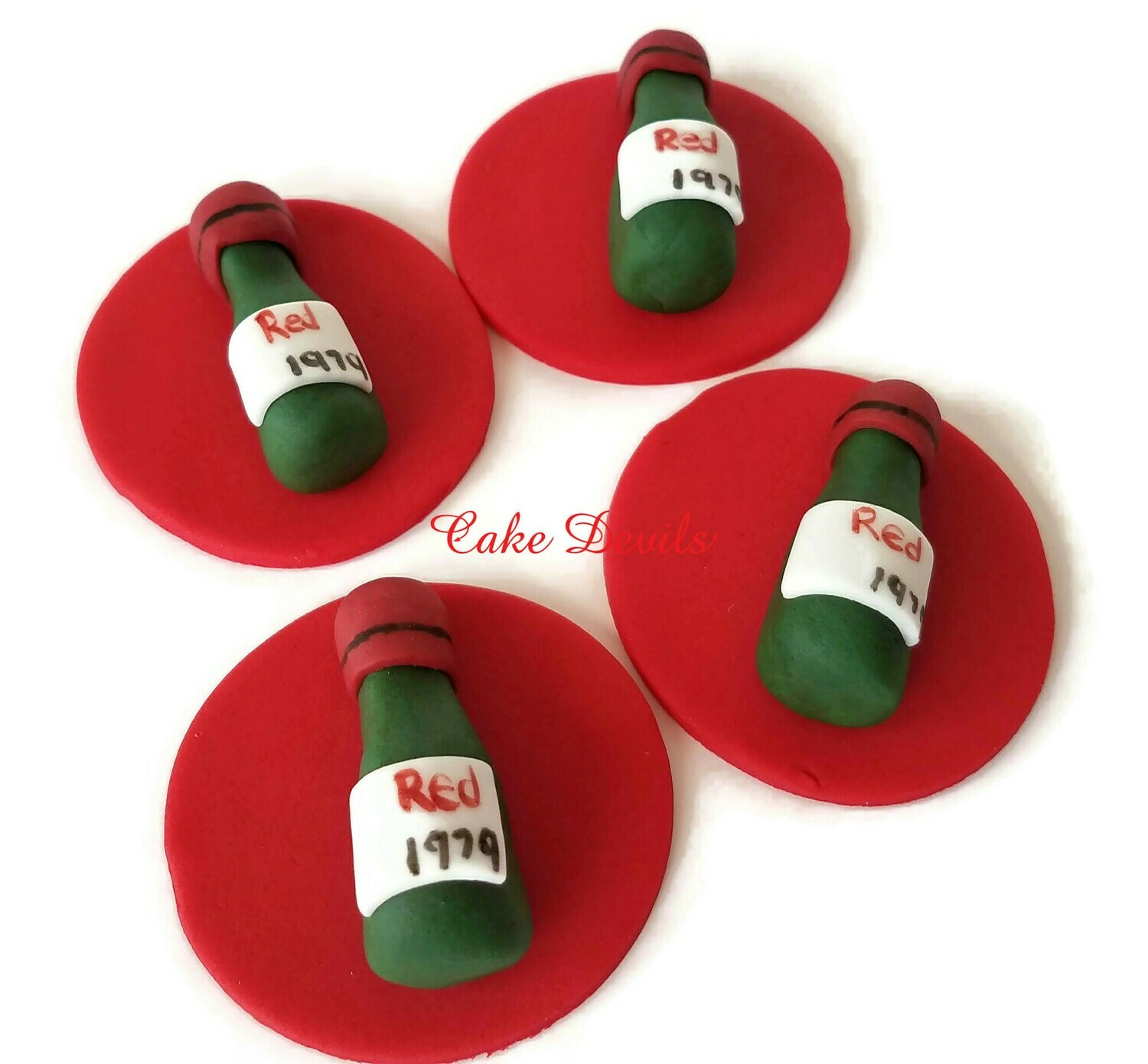 Wine Bottles Fondant Cupcake Toppers, great for a birthday party, dinner, or picnic!