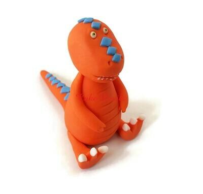 Dinosaur Train Tyrannosaurus Rex, T-Rex, Fondant Dinosaur Cake Topper, Buddy Cake Decorations