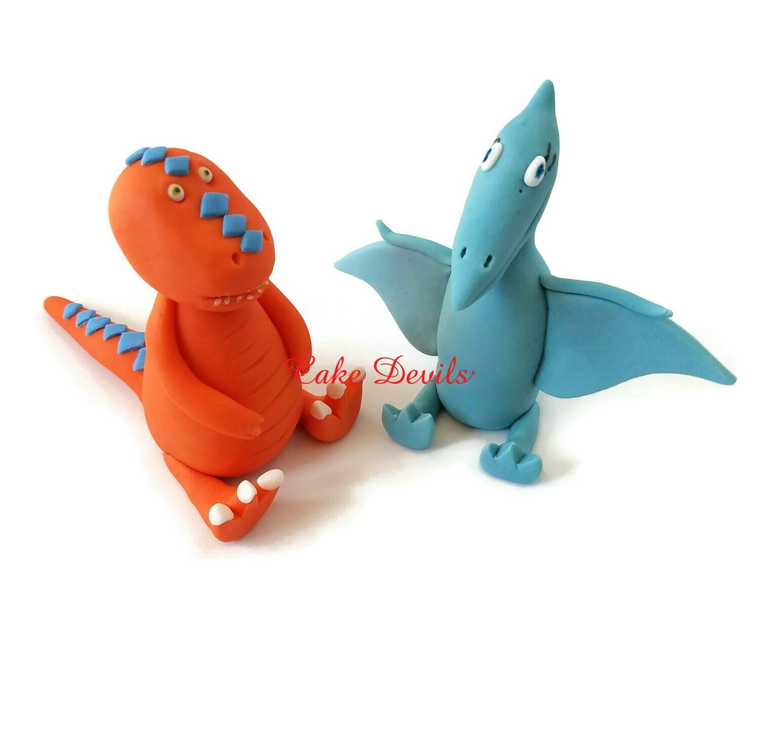 Dinosaur Train Fondant Dinosaur Cake Toppers, Shinny and Buddy Cake Decorations
