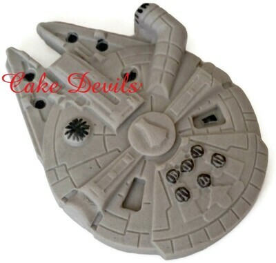 Millennium Falcon Cake Topper, fondant Star Wars Cake Decoration