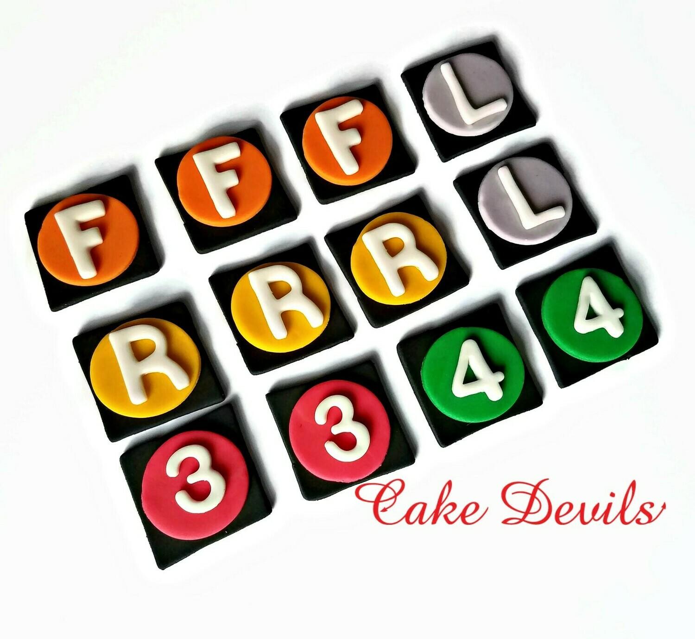 NYC Subway Cupcake Toppers, Fondant NYC Cake Decorations, Subway Numbers & Letters Cake Decorations