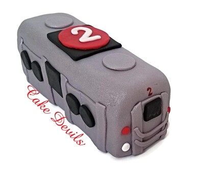Subway Train Cake Topper, Fondant NYC Cake Decorations, New York City Subway Car