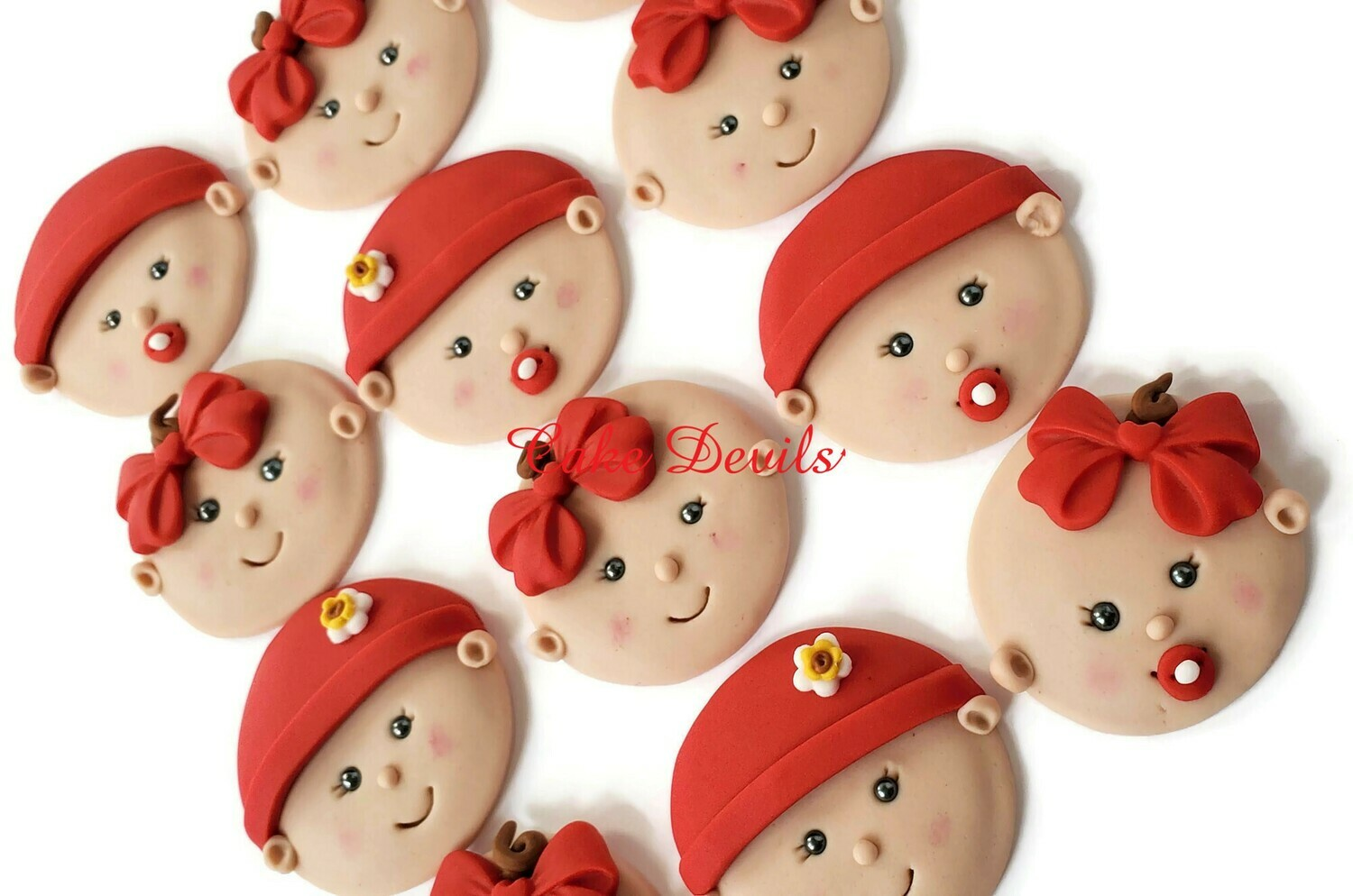 Baby Face Fondant Cupcake Toppers, Perfect for any Baby Shower Cake Decorations